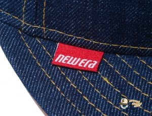 Denim Leather Patch 59Fifty Fitted Cap by New Era Label