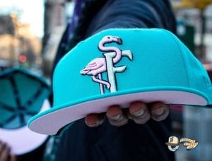 Bear Explorer Black Red 59Fifty Fitted Hat by Noble North x New EraFlamingos Teal Pink 59Fifty Fitted Hat by The Clink Room x New Era