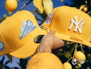 Hat Club Exclusive Frozen Lemonade And Tangerine 59Fifty Fitted Hat Collection by MLB x New Era Lemonade