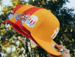 Hat Club Exclusive Frozen Lemonade And Tangerine 59Fifty Fitted Hat Collection by MLB x New Era Side