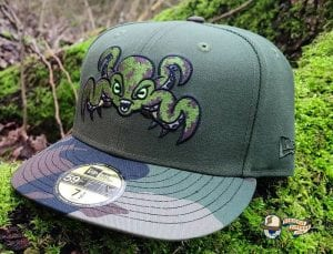 Landwalker Octo Green Woodland Camo 59Fifty Fitted Hat by Dionic x New Era