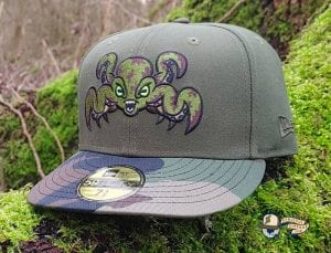 Landwalker Octo Green Woodland Camo 59Fifty Fitted Hat by Dionic x New Era Front