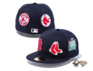 MLB All Over Hits 59Fifty Fitted Cap Collection by MLB x New Era RedSox