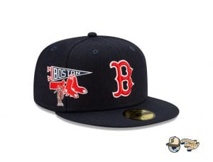 MLB City Patch 59Fifty Fitted Cap Collection by MLB x New Era RedSox