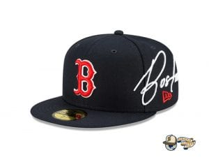 MLB Cursive 59Fifty Fitted Cap Collection by MLB x New Era RedSox