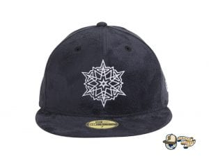 Snowflake Navy 59Fifty Fitted Hat by Dionic x New Era Front