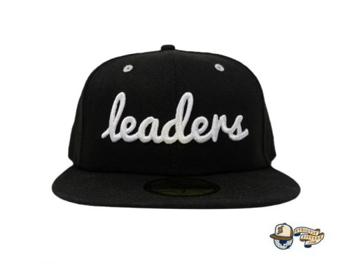 Cursive Black White Silver 59Fifty Fitted Cap by Leaders 1354 x New Era