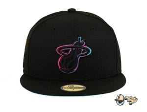 Hat Club Exclusive NBA Swoosh 59Fifty Fitted Hat Collection by NBA x New Era Heat