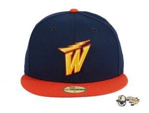Hat Club Exclusive NBA Swoosh 59Fifty Fitted Hat Collection by NBA x New Era Warriors