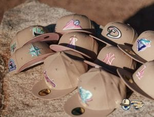 Hat Club Exclusive Sandstorm MLB 59Fifty Fitted Hat Collection by MLB x New Era Front