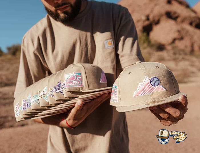Hat Club Exclusive Sandstorm MLB 59Fifty Fitted Hat Collection by MLB x New Era