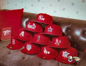 Hat Club Exclusive Sweethearts MLB 59Fifty Fitted Hat Collection by MLB x New Era Red