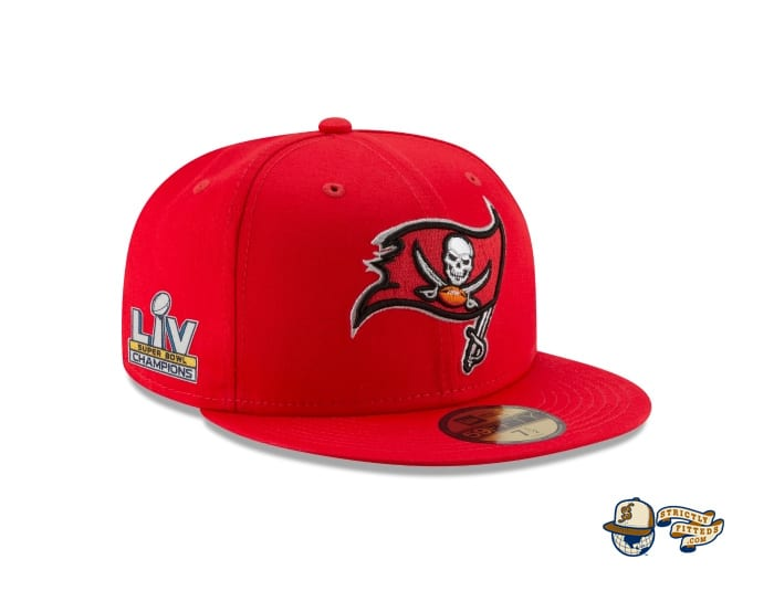 Tampa Bay Buccaneers Super Bowl LV Champions Side Patch 59Fifty Fitted Cap by NFL x New Era