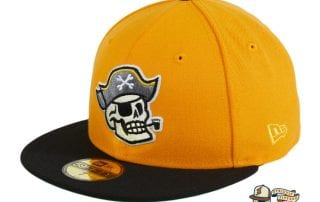 Pirate Skull Gold Black 59Fifty Fitted Hat by Chamucos Studio x New Era