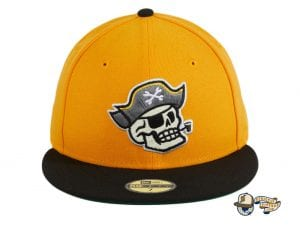Pirate Skull Gold Black 59Fifty Fitted Hat by Chamucos Studio x New Era Front