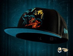 Sasquatch Black 59Fifty Fitted Cap by Noble North x New Era Side