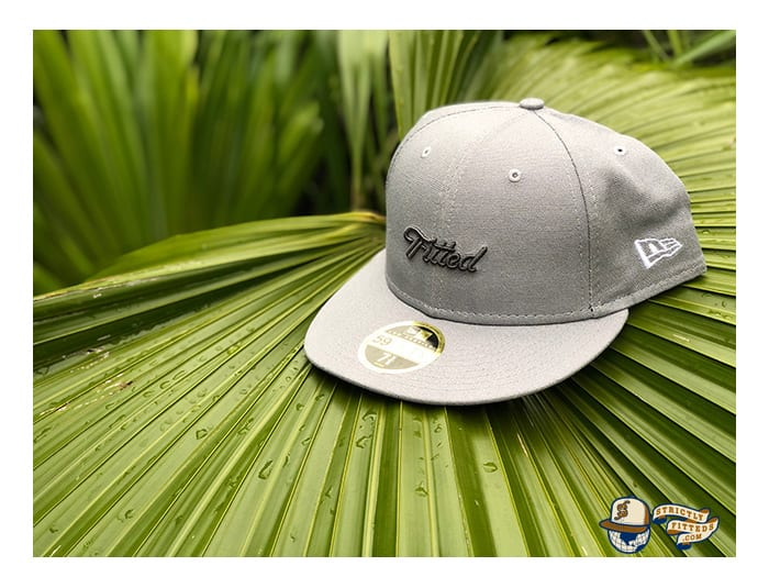 Script Gray Low Profile 59Fifty Fitted Cap by Fitted Hawaii x New Era