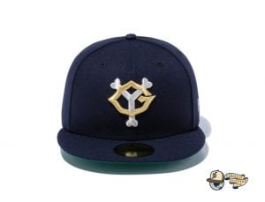 Yomiuri Giants Navy Metallic Silver 59Fifty Fitted Cap by NPB x New Era Front