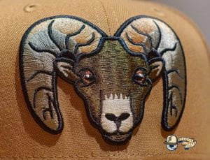 Bighorns Wheat Black 59Fifty Fitted Hat by Dionic x New Era Front
