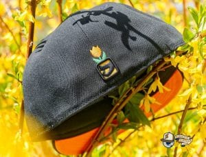 B's Black Orange 59Fifty Fitted Hat by Dionic x New Era Back
