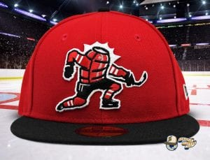 Celly Red Black 59Fifty Fitted Cap by Noble North x New Era Front