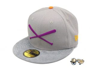 Crossed Bats Grey Ripstop 59Fifty Fitted Cap by JustFitteds x New Era Left
