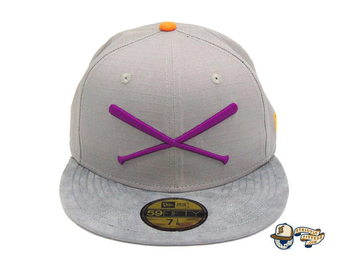 Crossed Bats Grey Ripstop 59Fifty Fitted Cap by JustFitteds x New Era