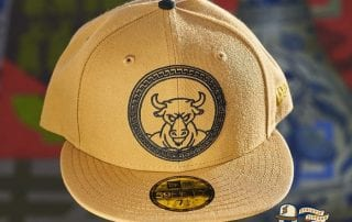 Minotaur Tan Black 59Fifty Fitted Hat by Dionic x New Era