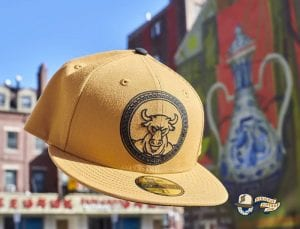 Minotaur Tan Black 59Fifty Fitted Hat by Dionic x New Era Front