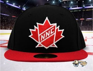 NNC Maple Crest Black Red 59Fifty Fitted Cap by Noble North x New Era