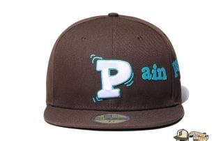Pain Pain Go Away Walnut 59Fifty Fitted Cap by Vertical Garage x New Era