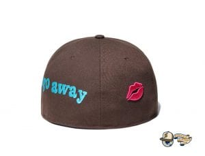 Pain Pain Go Away Walnut 59Fifty Fitted Cap by Vertical Garage x New Era Back