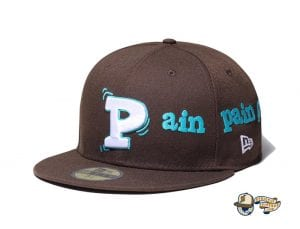 Pain Pain Go Away Walnut 59Fifty Fitted Cap by Vertical Garage x New Era Front
