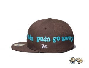 Pain Pain Go Away Walnut 59Fifty Fitted Cap by Vertical Garage x New Era Side