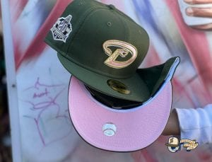Pink Bottom Special 59Fifty Fitted Cap Collection by MLB x Exclusive Fitted x New Era Diamondbacks