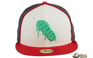 Hadleys Hope Stompers White Cardinal 59Fifty Fitted Hat by Dionic x New Era