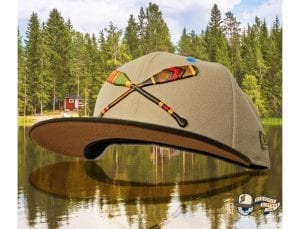 Lake Paddles 59Fifty Fitted Cap by Noble North x New Era Brown
