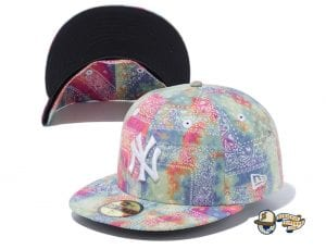 New York Yankees Tie Dye Paisley 59Fifty Fitted Cap by MLB x New Era Multicolor