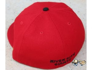 Shadow Chief Red 59Fifty Fitted Cap by 4our Crnr x New Era Back