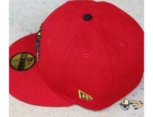Shadow Chief Red 59Fifty Fitted Cap by 4our Crnr x New Era Side