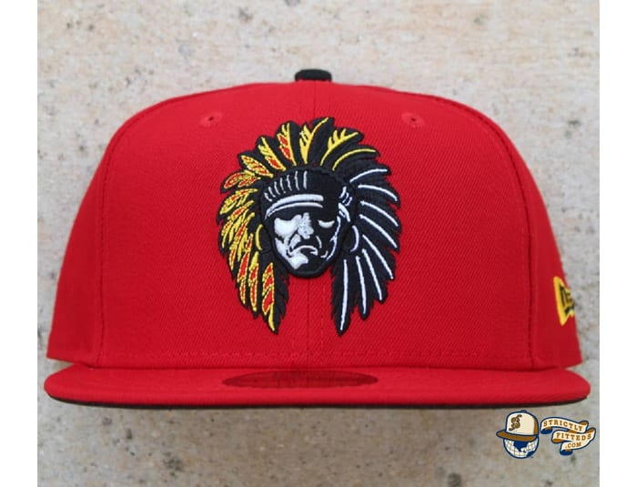 Shadow Chief Red 59Fifty Fitted Cap by 4our Crnr x New Era