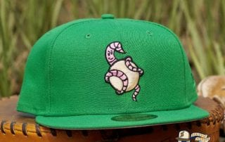 Wakefield Worms Kelly Green Pink 59Fifty Fitted Hat by Dionic x New Era
