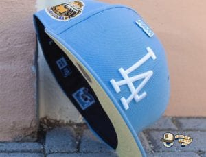 Fam Cap Store Exclusive MLB Sky Blue 59Fifty Fitted Cap Collection by MLB x New Era Dodgers