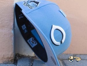 Fam Cap Store Exclusive MLB Sky Blue 59Fifty Fitted Cap Collection by MLB x New Era Reds