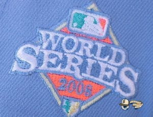 Fam Cap Store Exclusive MLB Sky Blue 59Fifty Fitted Cap Collection by MLB x New Era WorldSeries