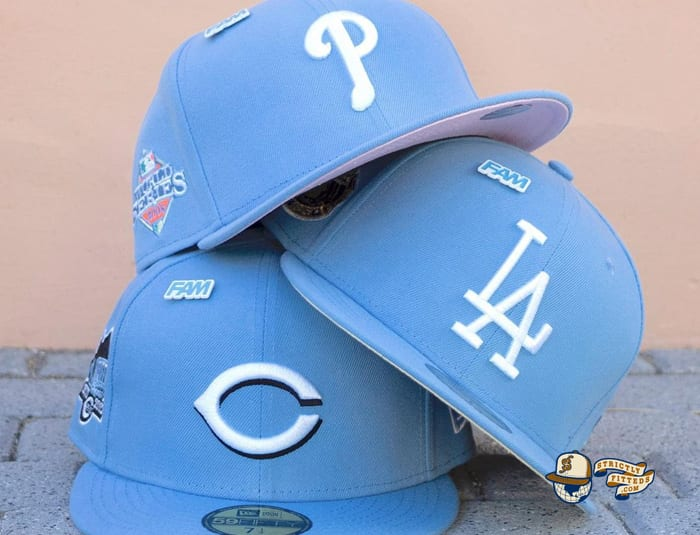 Fam Cap Store Exclusive MLB Sky Blue 59Fifty Fitted Cap Collection by MLB x New Era