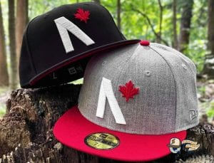 Maple Leaf Black Grey Heather 59Fifty Fitted Cap by Noble North x New Era