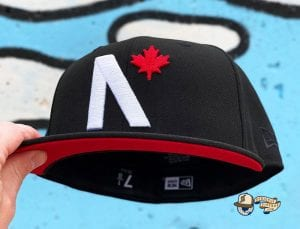 Maple Leaf Black Grey Heather 59Fifty Fitted Cap by Noble North x New Era Black