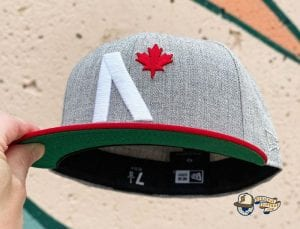 Maple Leaf Black Grey Heather 59Fifty Fitted Cap by Noble North x New Era Heather