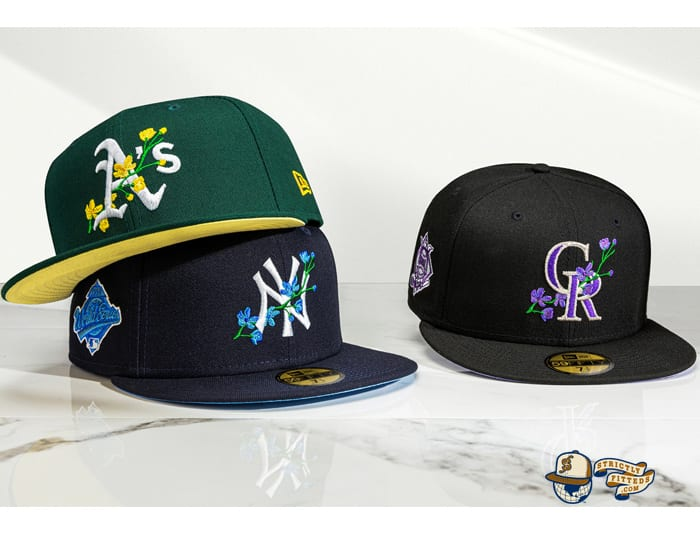 MLB Side Patch Bloom 59Fifty Fitted Cap Collection by MLB x New Era
